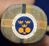 swedish table tennis association sticker on old rackets