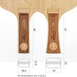 Table tennis bat dimensions