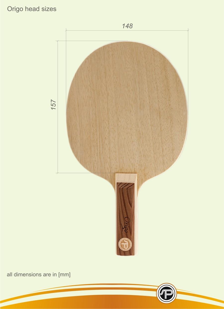 Table tennis blades head sizes